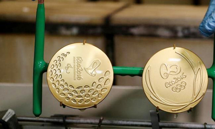 Electronic waste will be made into the Olympic gold medal