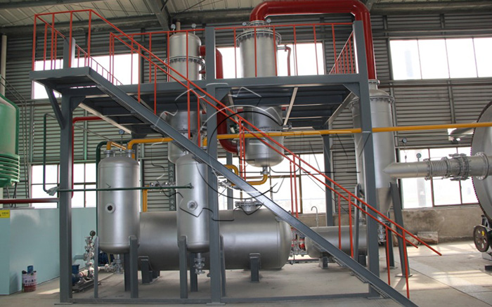 Tyre Pyrolysis Plant Picture Details