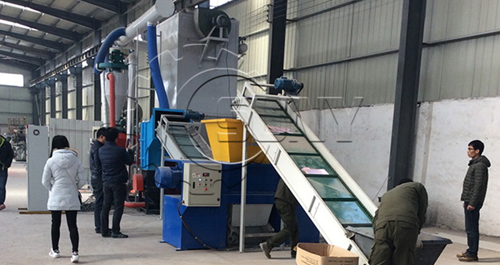 Singapore clients inspection circuit board recycling machine