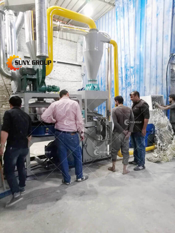 Egyptian customer Aluminum-plastic recycl