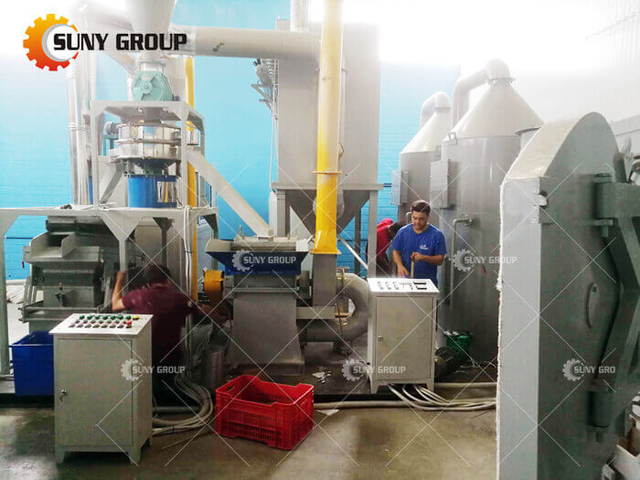 Greek customer PCB Recycling Machine work
