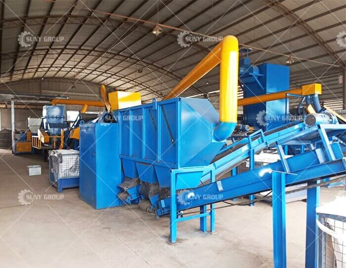 Waste radiator recycling line