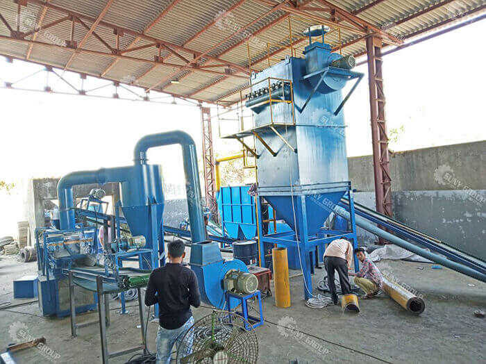 Indian customer site for radiator recycling plant