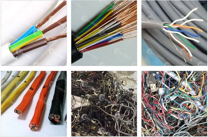 Cable Wire Recycling Machine Raw Materials