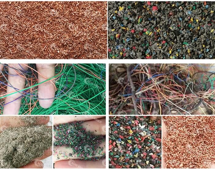 Cable Wire Recycling Machine Final products