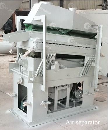 Air flow specific gravity sorting equipment