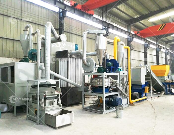 waste circuit board crushing and recycling equipment