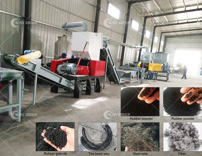 rubber crushing equipment