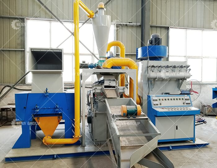 Scrap Cable Wire Recycling Crushing Separating Machine