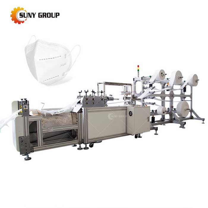 N95 Semiautomatic Face Mask Making Machine