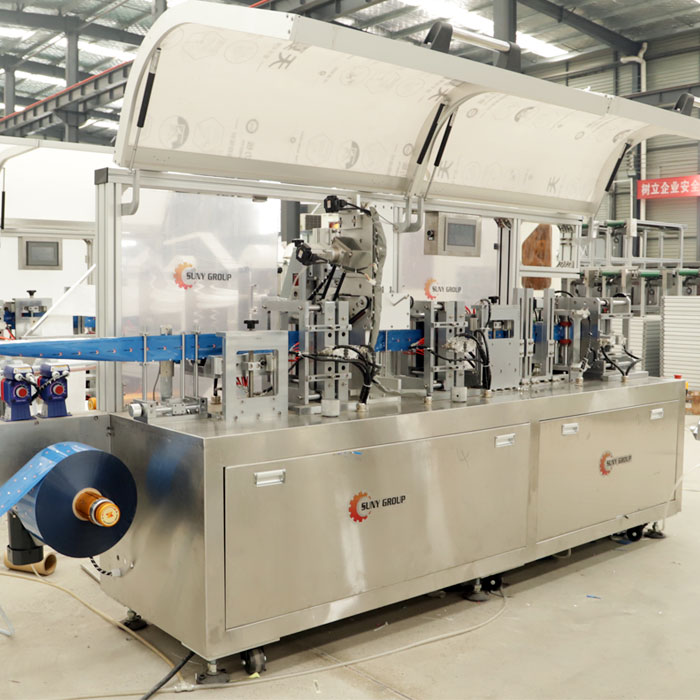 Single 4 Side Wet Wipes Machine