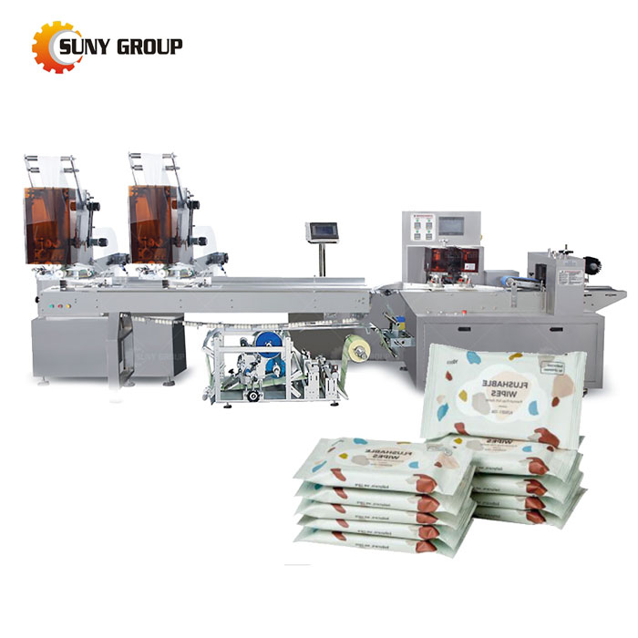 Small Bag Wet Wipes Machine